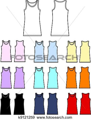 Stock Illustration of top tank linen garment k9121259.