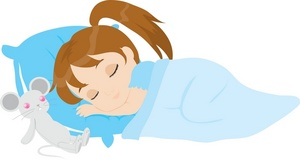 Sleeping Girl Clipart.