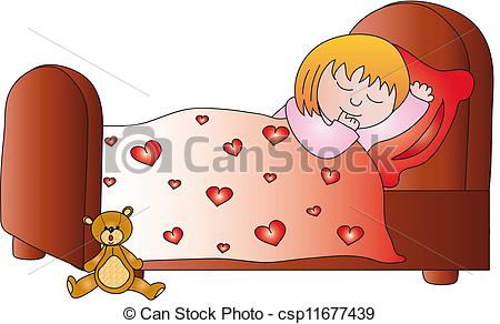girl sleep clipart - Clipground