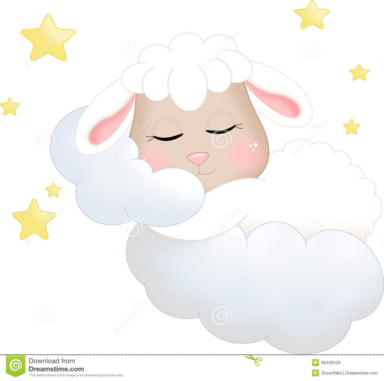 Sleeping Sheep Clipart.