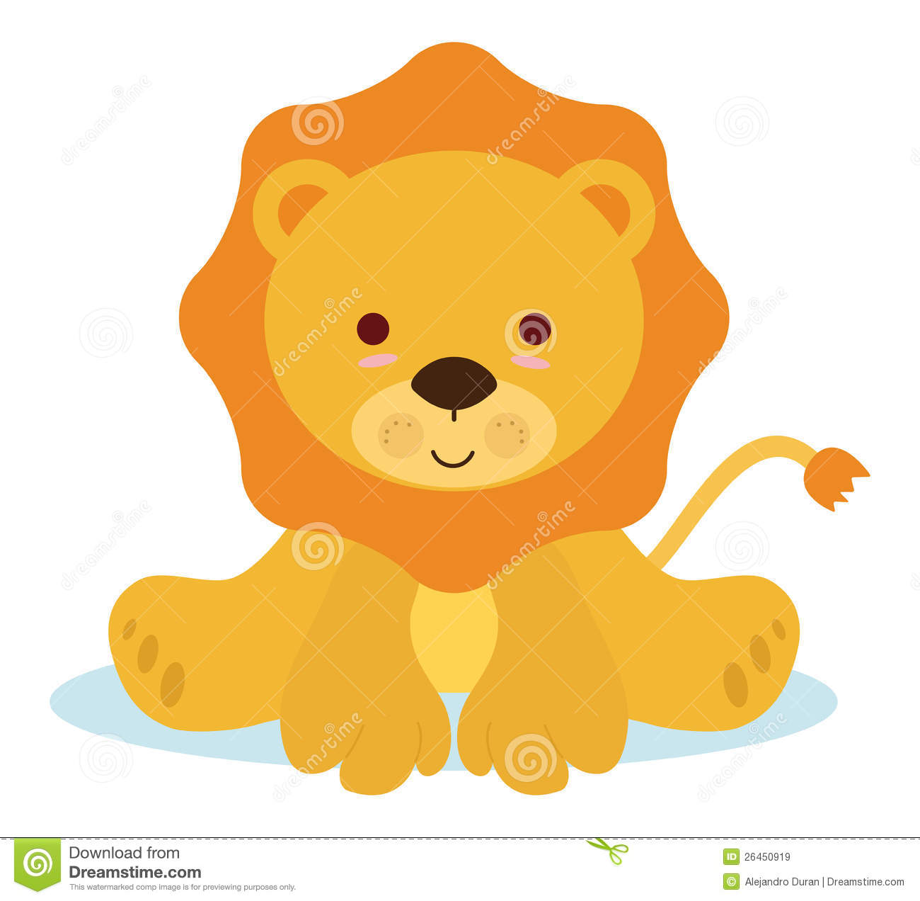 Sleeping Lion Clipart.