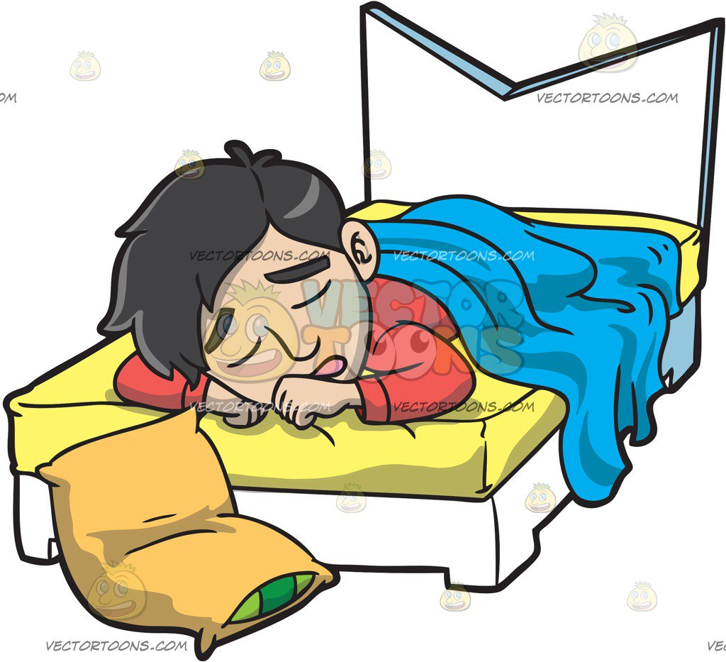 Man sleeping in bed clipart » Clipart Station.