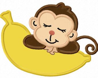 Sleeping Monkey Cliparts.
