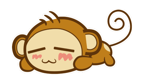 I made a sleeping monkey. :3 This isn\'t my character.