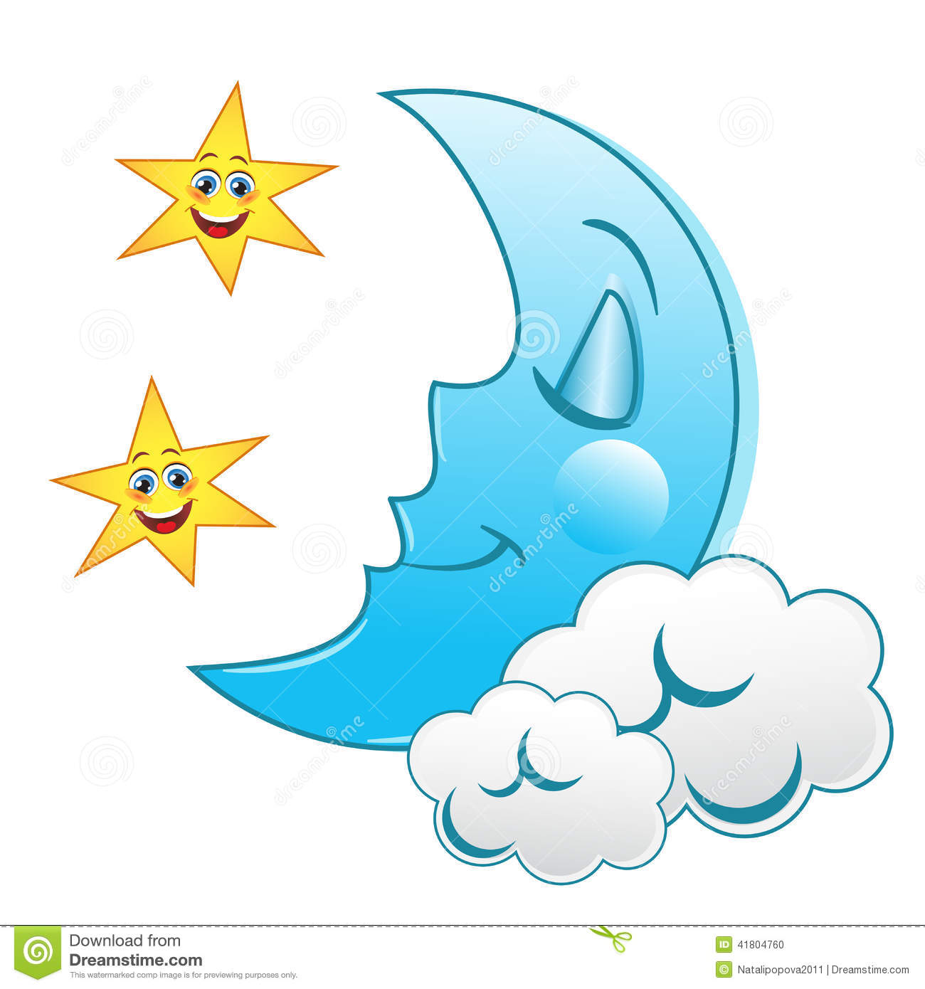 Sleeping Moon Clipart (112+ images in Collection) Page 3.