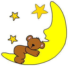 Sleeping Moon Clipart.