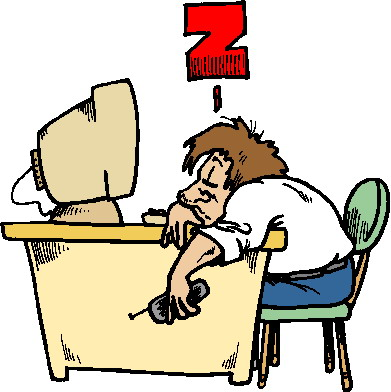 Sleeping At Work Clipart.