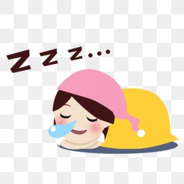 Girl Sleep PNG Images.