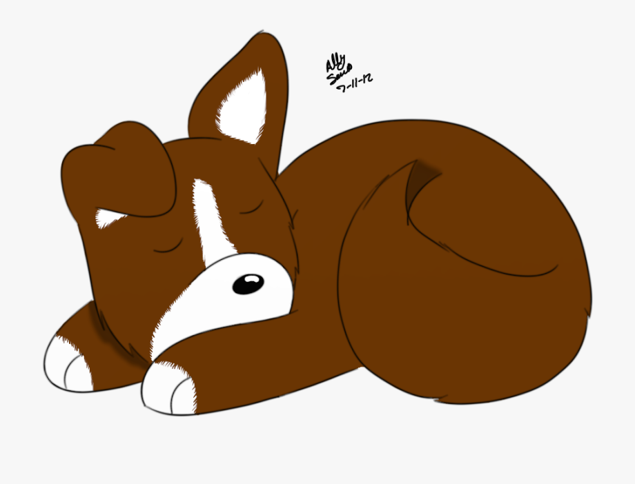 Sleeping Clipart Puppy.