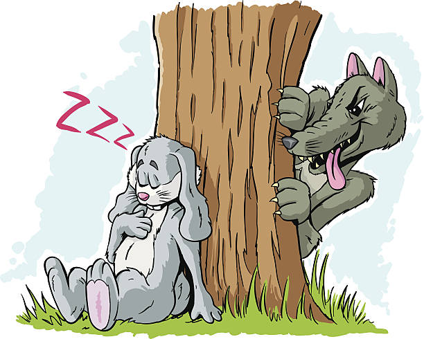 Bunny Sleeping Clip Art, Vector Images & Illustrations.