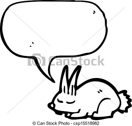 Vector of sleeping rabbit cartoon csp15518982.