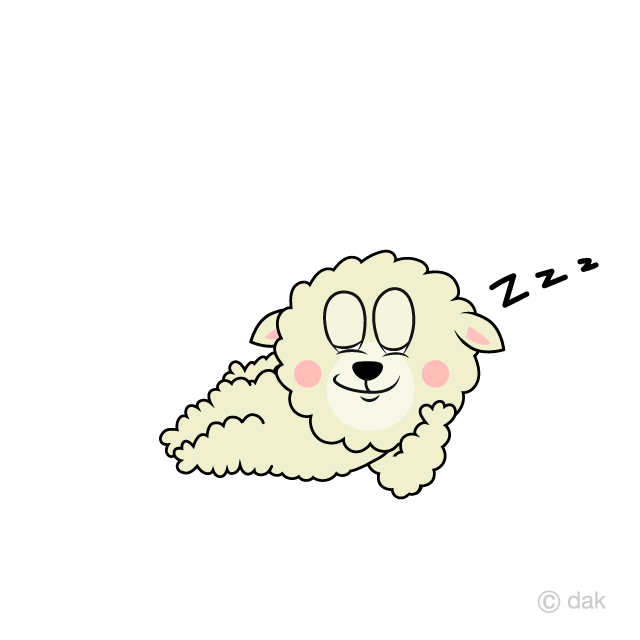 Sleeping Sheep Cartoon Free Picture|Illustoon.