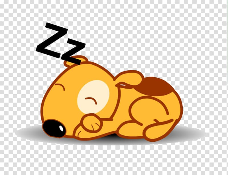 Sleeping dog , Dog Puppy Animation Cartoon, Sleeping puppy.