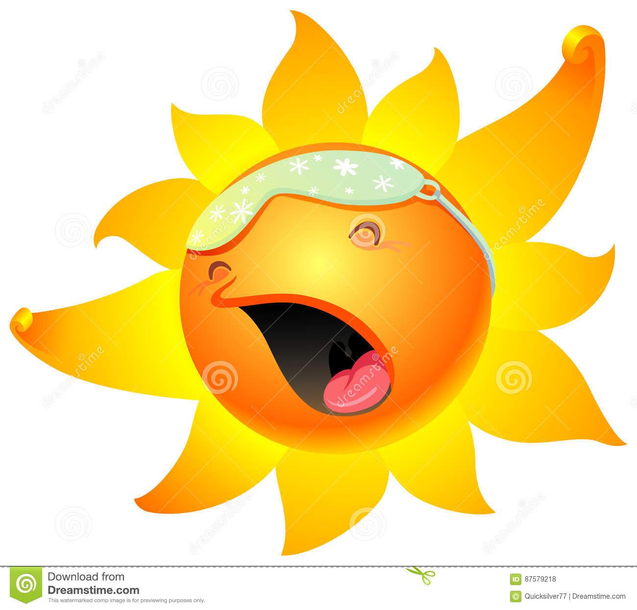 Sleepy Sun Clipart.