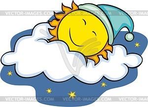 Sleeping sun.