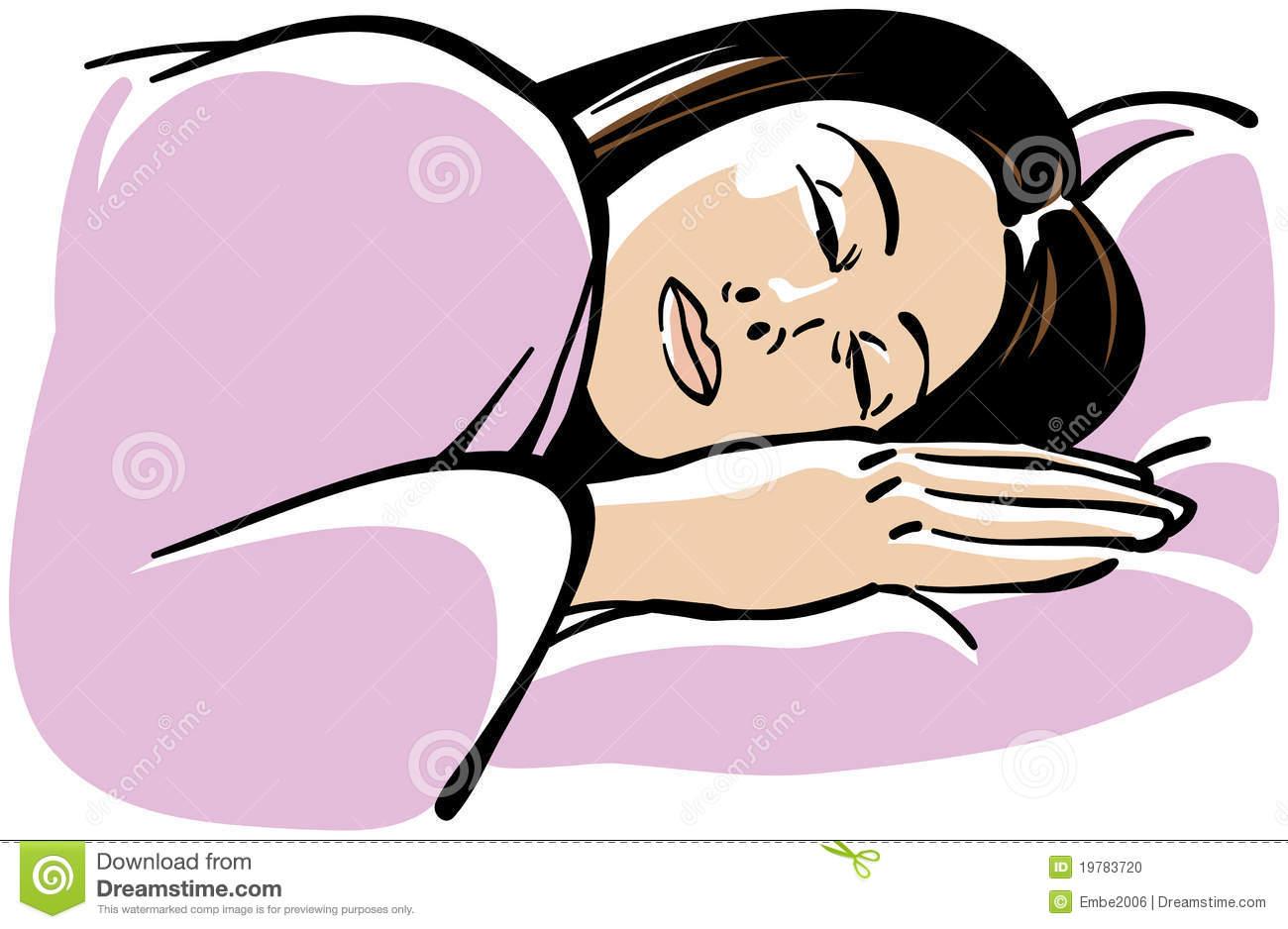 Sleeping Woman Clipart.