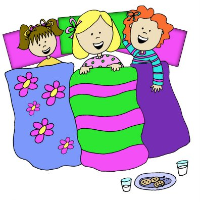 INVITATIONS FOR SLEEPOVER PARTY, Sleep Over Clip Art.