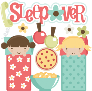 Sleepover SVG files for scrapbooking sleepover clipart cute.