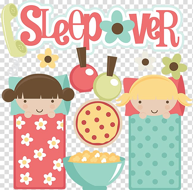 Sleepover Party , Sleepover Border transparent background.