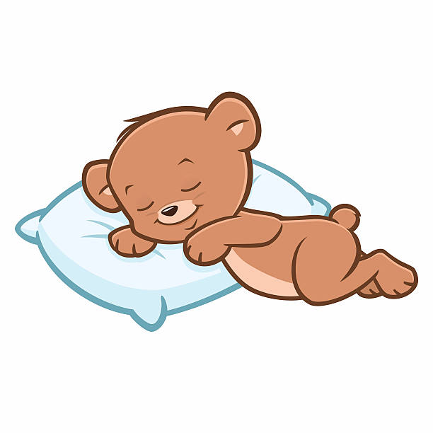 Sleeping Teddy Bear Clipart.