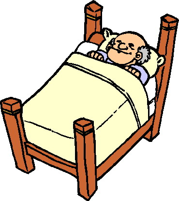 Sleeping Old Man Clipart.