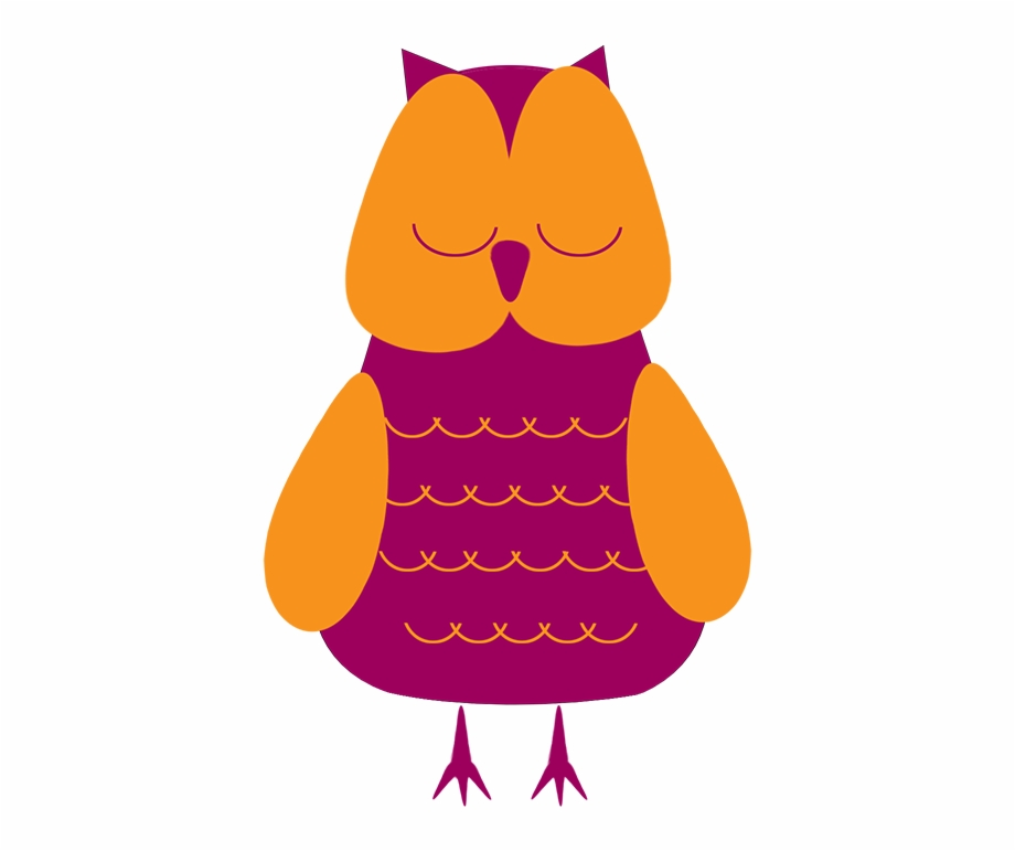 Sleepy Owl Clip Art.