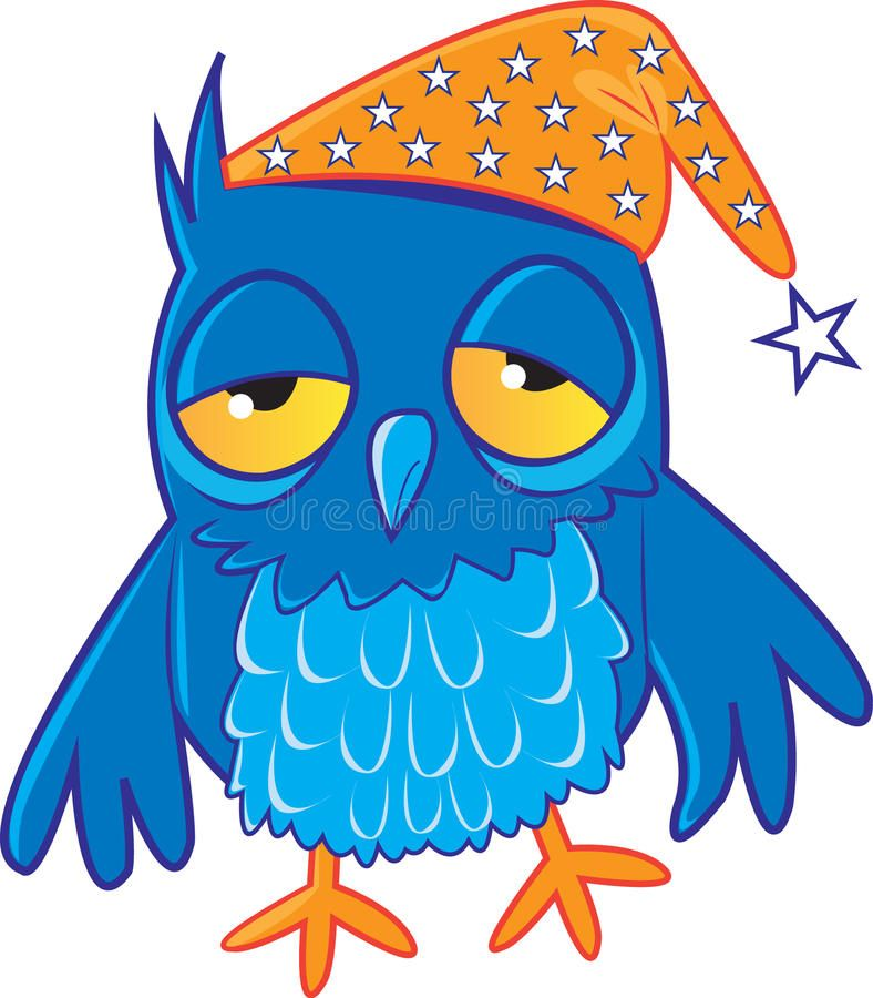 Sleepy Owl. A cartoon owl looking tired , #spon, #Owl.