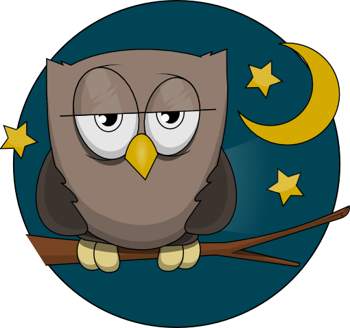 Sleepy Owl Clipart.