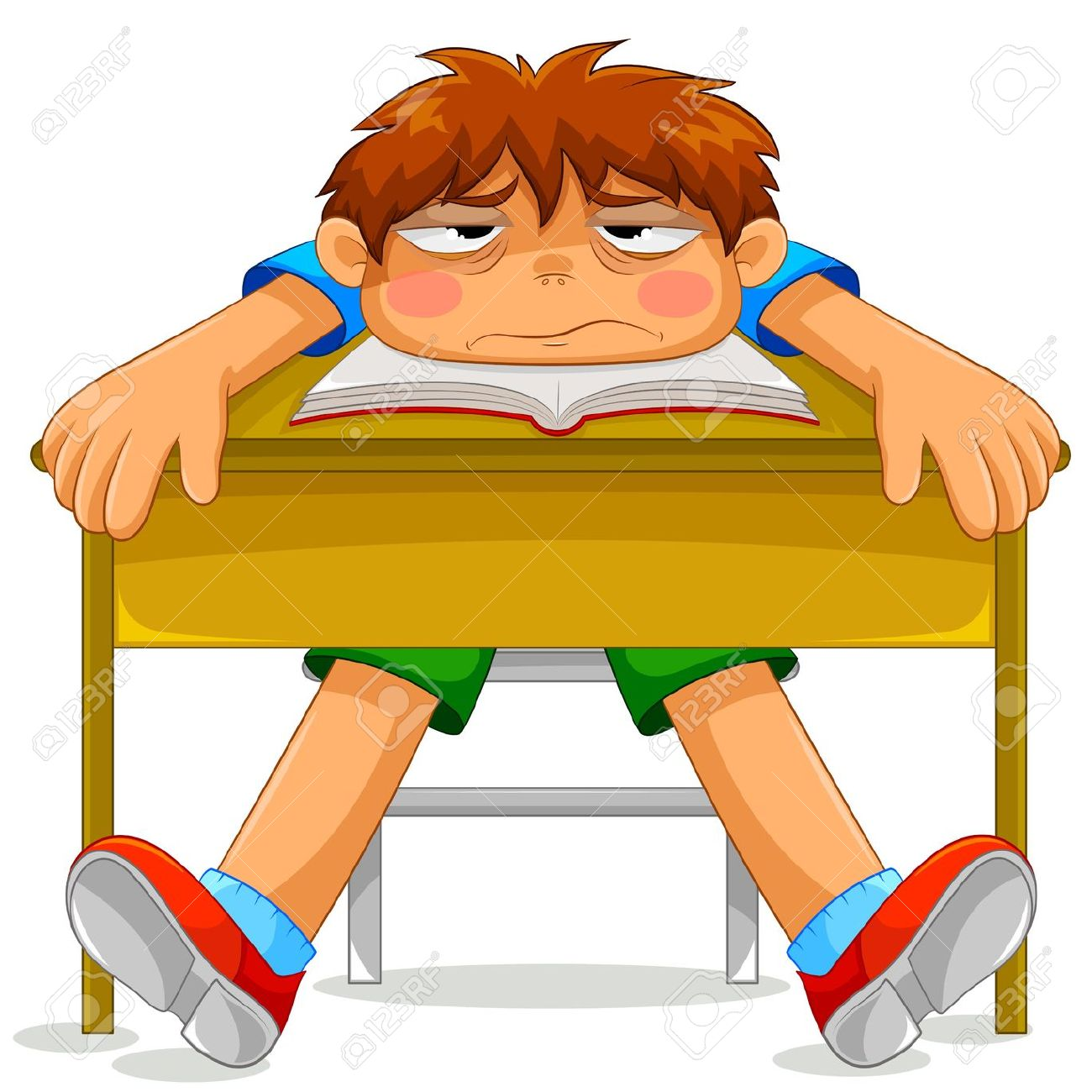 Tired Student Clipart.