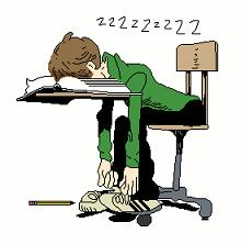 Student Sleeping Clipart.
