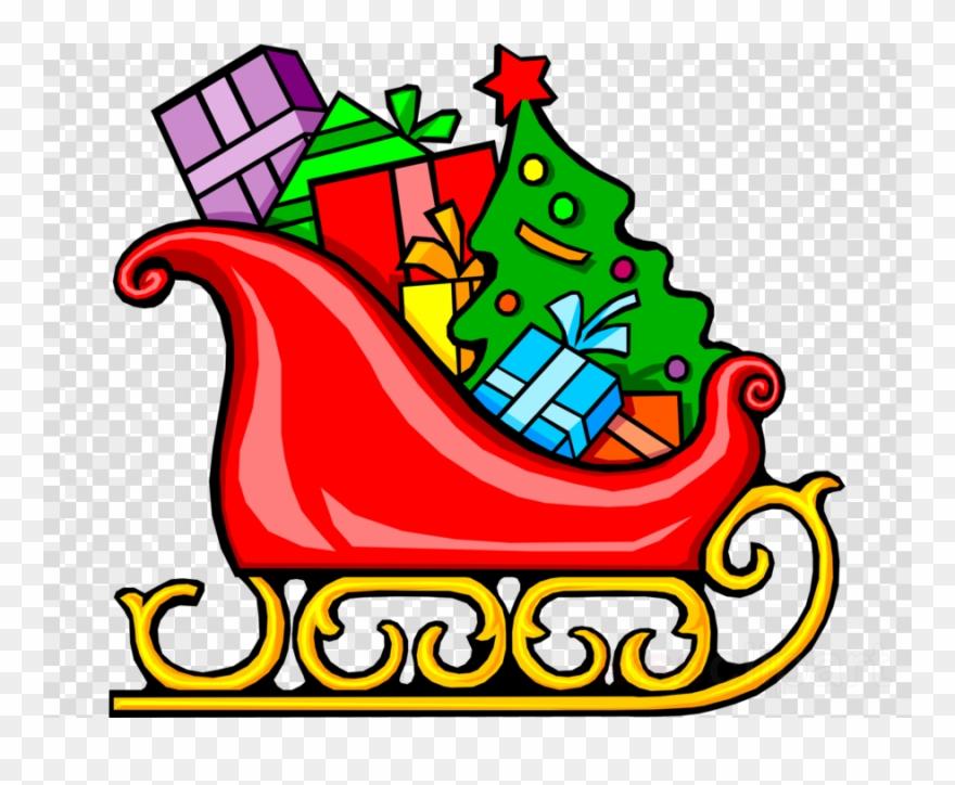 Santa\'s Sleigh With Presents Clipart Santa Claus Sled.