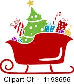 Free Santa Sleigh Clipart.