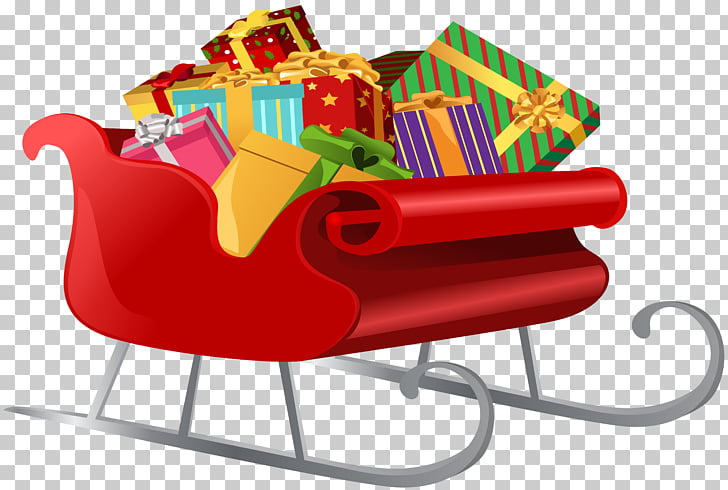 Santa Claus\'s reindeer Sled Gift , Santa Sleigh with Gifts.