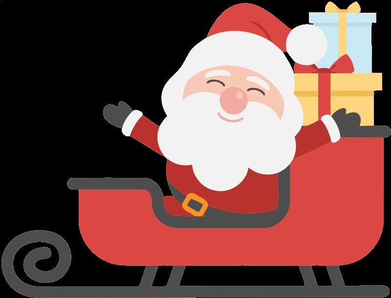 Sleigh clipart big santa, Sleigh big santa Transparent FREE.