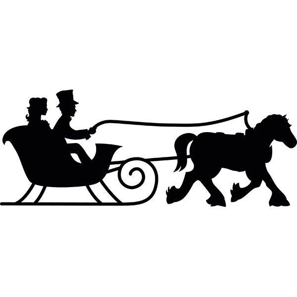 one horse sleigh silhouette.