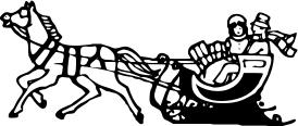sleigh ride BW.