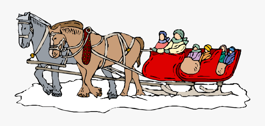 Winter Sleigh Ride Clipart , Free Transparent Clipart.