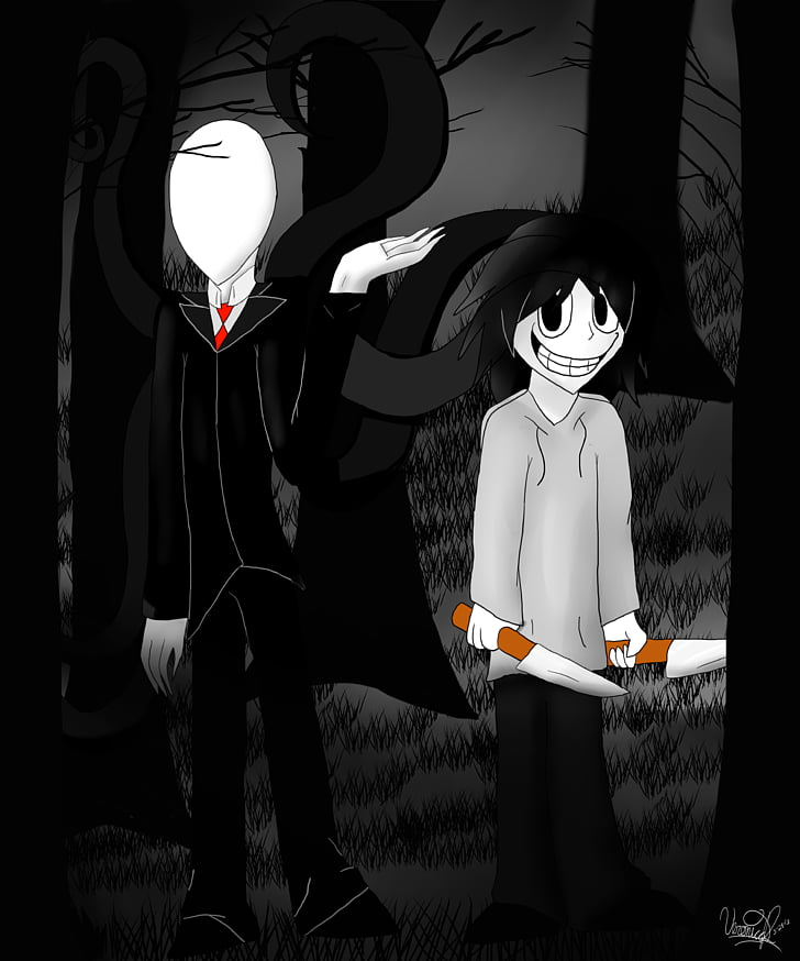 Slender: The Arrival Quick, Draw! Slenderman Drawing Jeff.
