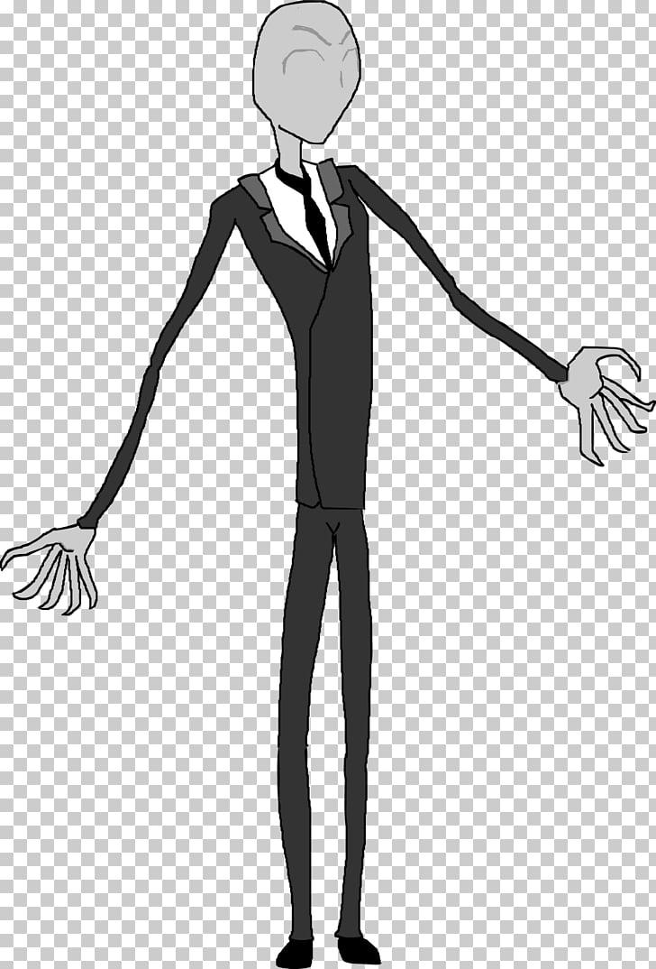 Slenderman Drawing Male, Slender man PNG clipart.