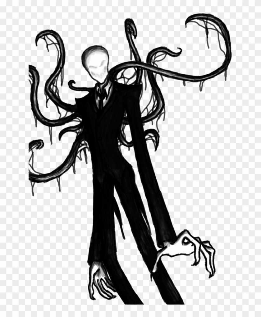 Creepypasta Drawings Slender Man , Png Download.
