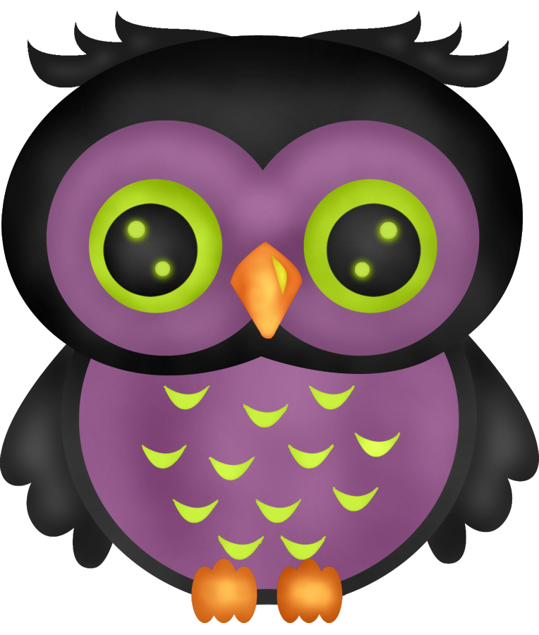 Girly Owl Cartoon.