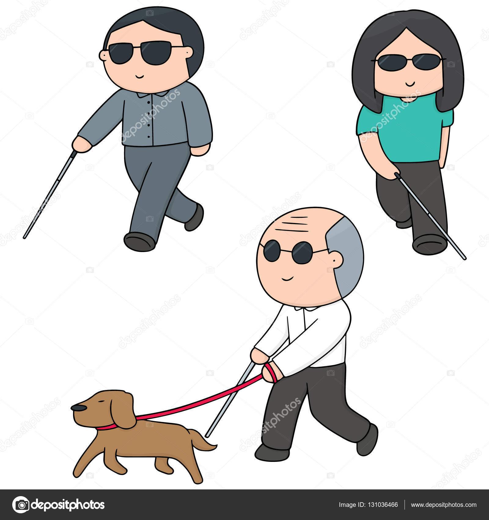 Vektor sadu slepí lidé — Stock Vektor © ourlifelooklikeballoon.