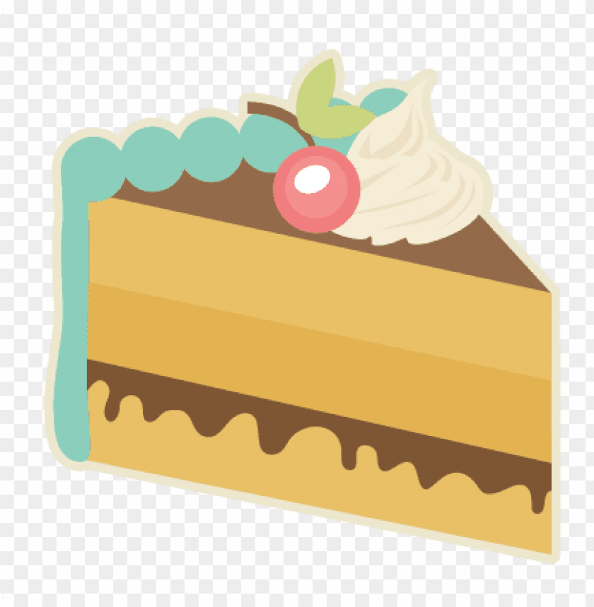 piece of cake svg cutting files for scrapbooking slice.