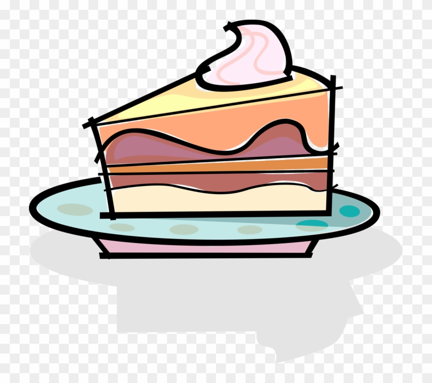 Slice Of Dessert Cake Clipart (#233973).