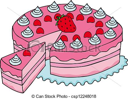 Slice of cake clip art.