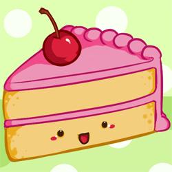How to Draw a Kawaii (Cute) Cake Slice.