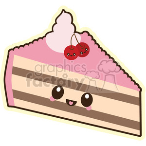 Cake slice vector clip art image clipart. Royalty.