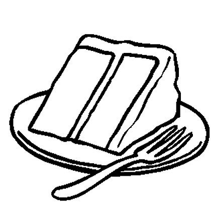 Slice Of Cake Clipart Black And White.