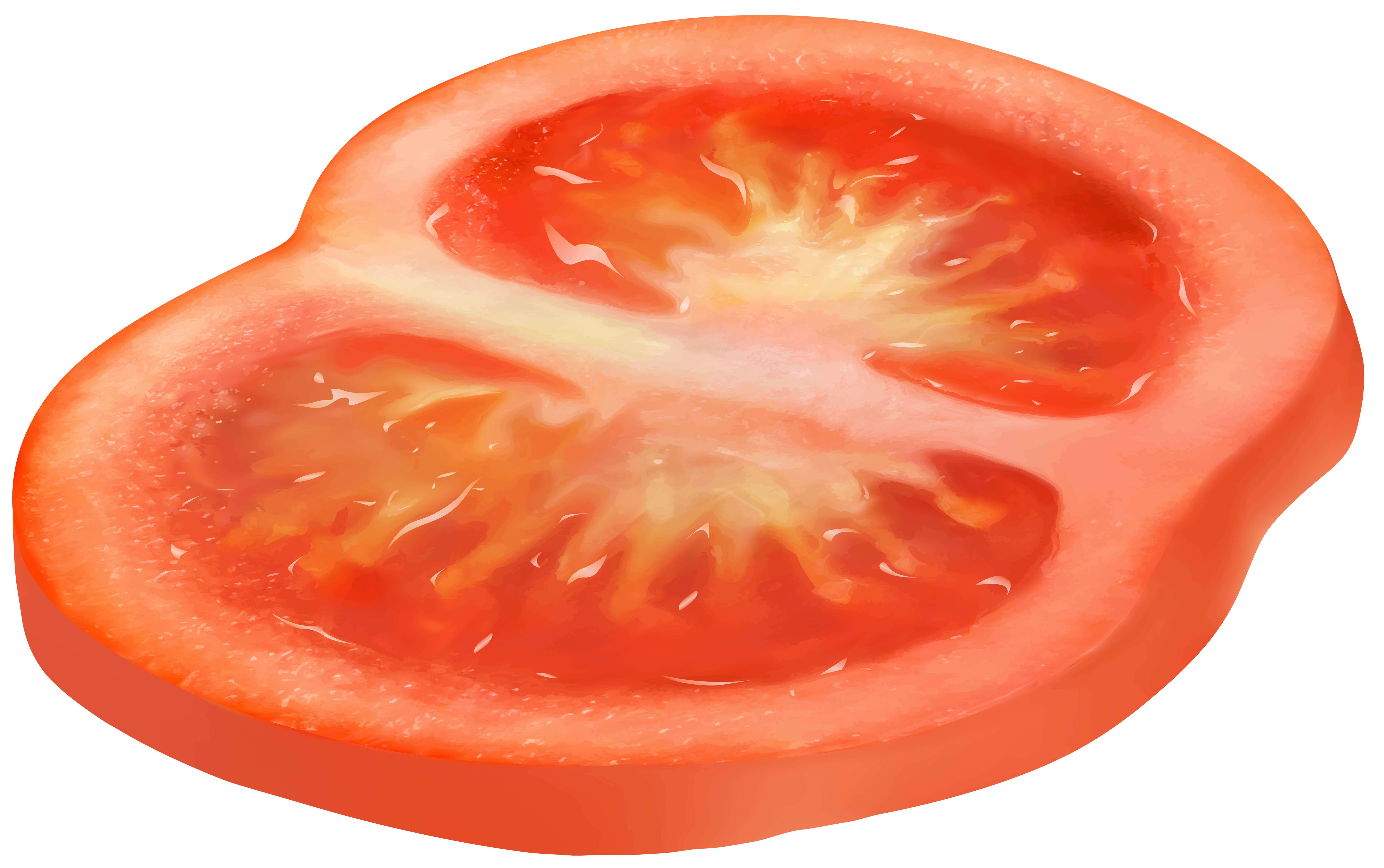 Circle Sliced Tomato PNG Clipart.