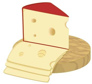 Slice of cheese 1, Clipart.